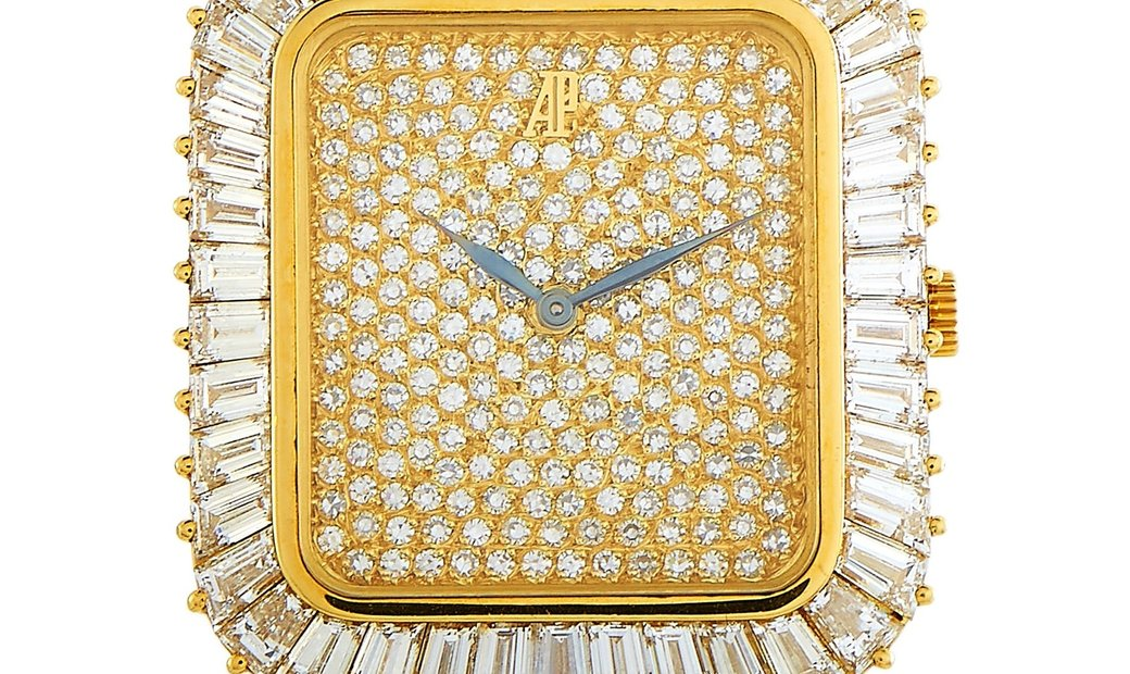 Audemars Piguet Audemars Piguet Vintage 18K Yellow Gold Baguette Diamond Bezel Watch