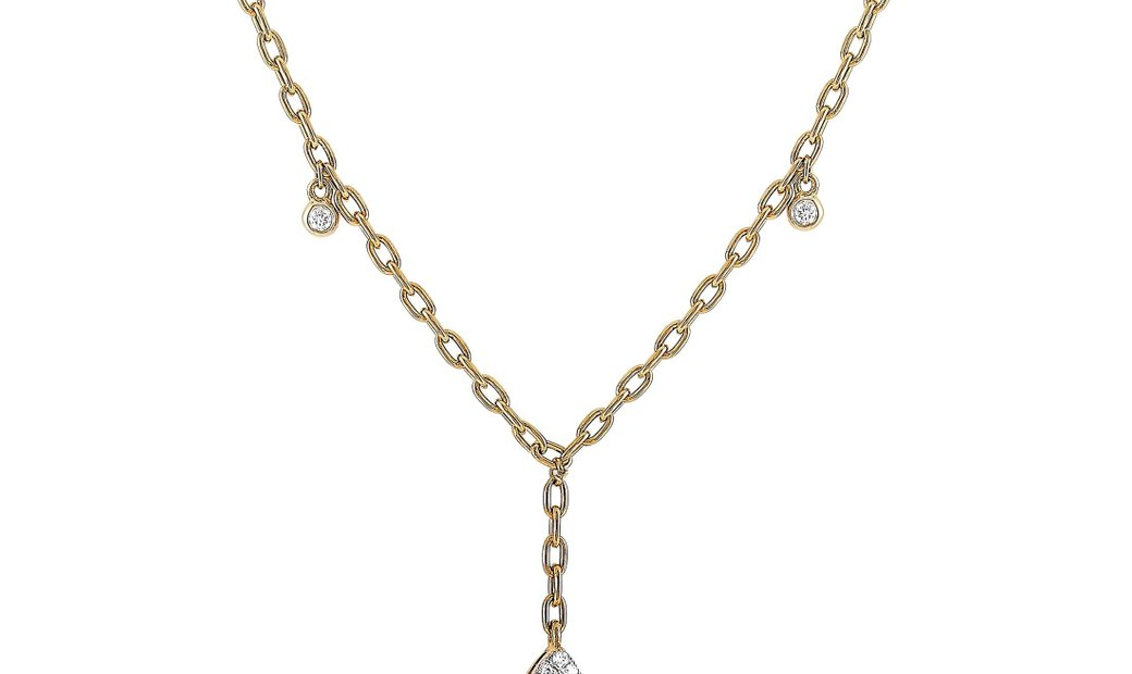 LB Exclusive LB Exclusive 18K Yellow Gold 1.00 ct Diamond Pendant Necklace