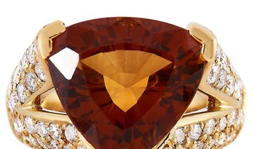 LB Exclusive LB Exclusive 18K Yellow Gold 1.46 ct Diamond and Citrine Ring
