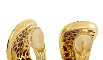 Roberto Coin Roberto Coin 18K Yellow Gold Diamond and Cat's Eye Earrings