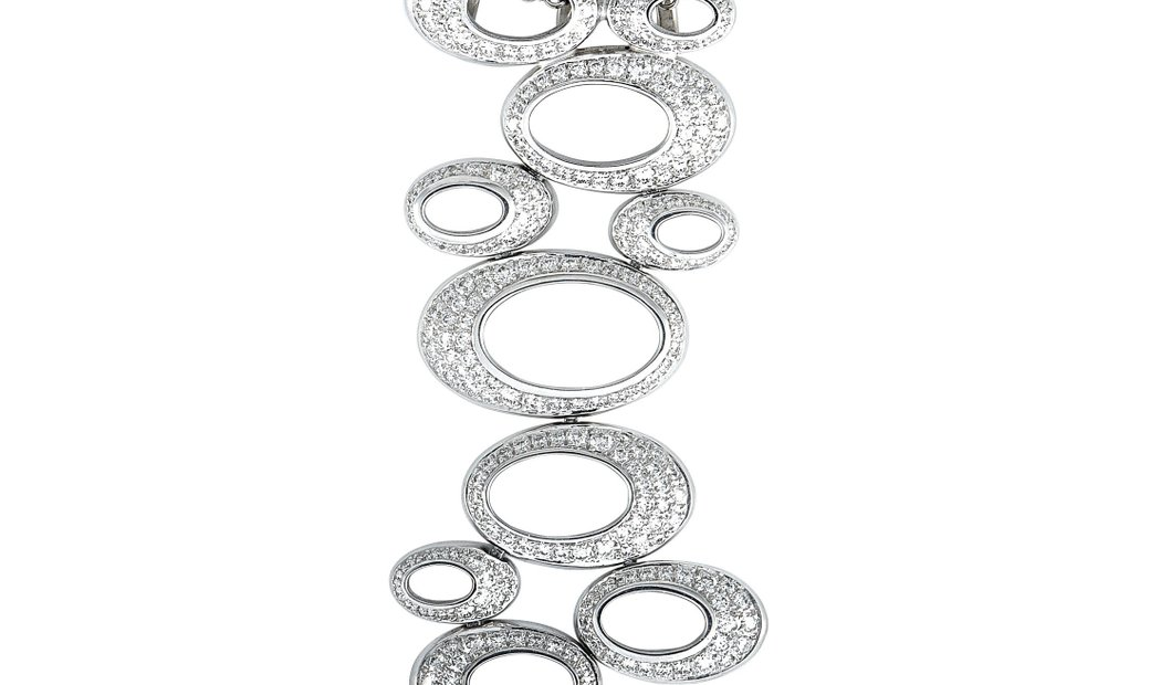 Chopard Chopard 18K White Gold Diamond Pave Dangle Pendant Chain Necklace
