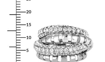 LB Exclusive LB Exclusive 18K White Gold Diamond Pave Multi-Band Ring