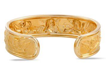 Carrera y Carrera Carrera y Carrera 18K Yellow Gold Angels Cuff Bracelet