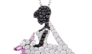 Stefan Hafner Stefan Hafner 18K White Gold White and Black Diamond Pave and Pink Sapphire Bride-To-B