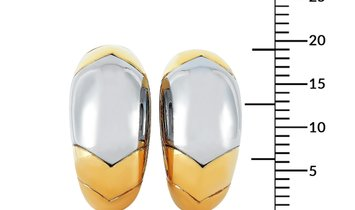 Bvlgari Bvlgari Tronchetto 18K Yellow and White Gold Clip-On Earrings