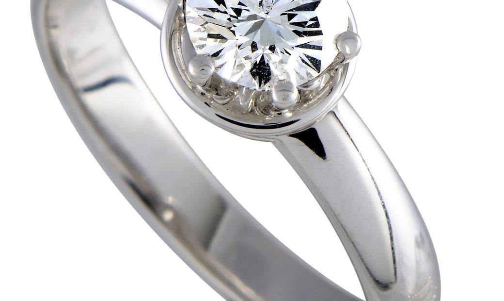 Damiani Damiani Queen 18K White Gold Diamond Engagement Ring