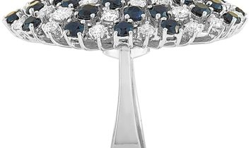 Roberto Coin Roberto Coin Fantasia 18K White Gold and White and Black Diamond Oval Ring
