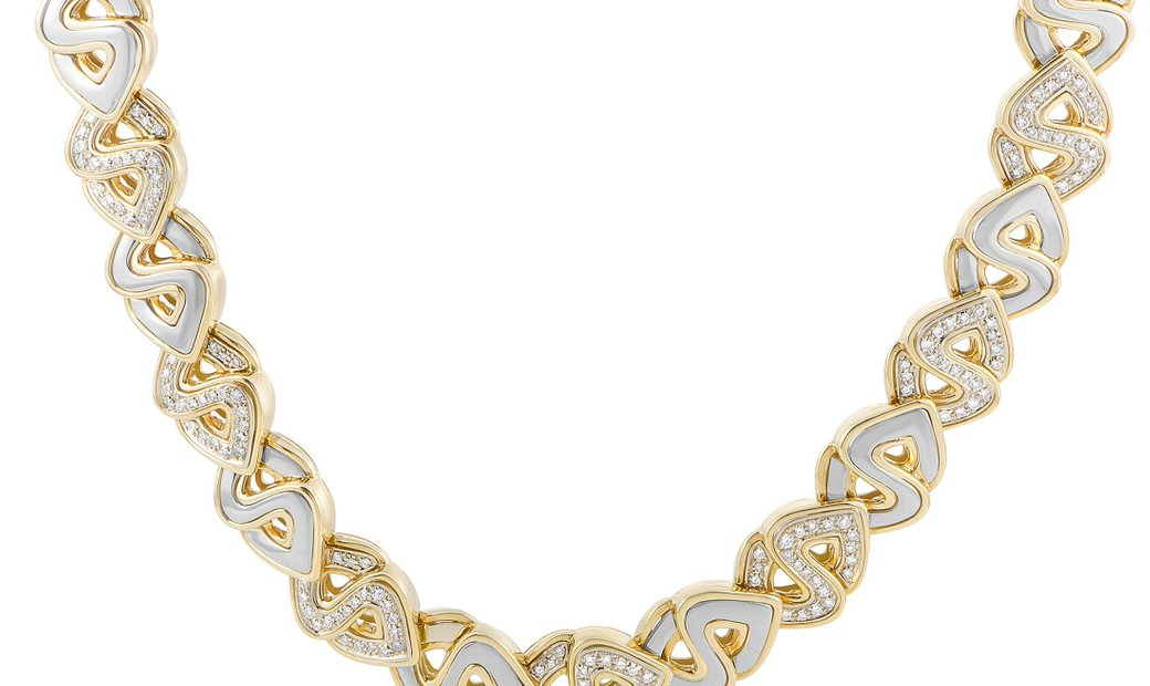 Marina B. Marina B. 18K Yellow and White Gold Diamond Necklace