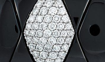 Roberto DeMeglio Roberto Demeglio 18K White Gold and Black Ceramic 1.03 ct Diamond Bracelet