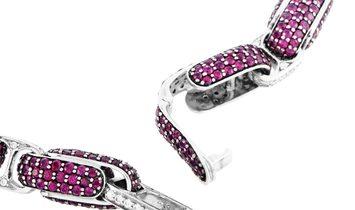 Roberto Coin Roberto Coin Fantasia 18K White Gold Diamond and Ruby Necklace