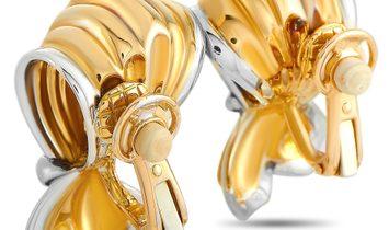 Boucheron Boucheron 18K Yellow and White Gold Earrings