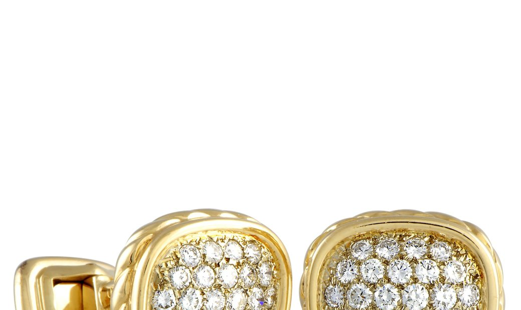 O.J.Perrin O.J.Perrin 18K Yellow Gold Diamond Cufflinks
