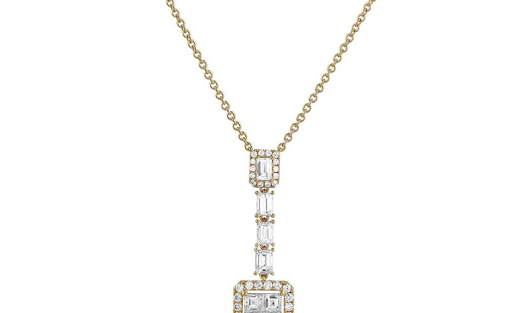 LB Exclusive LB Exclusive 18K Yellow Gold Diamond Pendant Necklace
