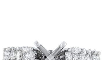 LB Exclusive LB Exclusive 18K White Gold 0.92 ct Diamond Mounting Ring