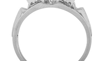 LB Exclusive LB Exclusive Platinum 0.49 ct Diamond and Emerald Ring