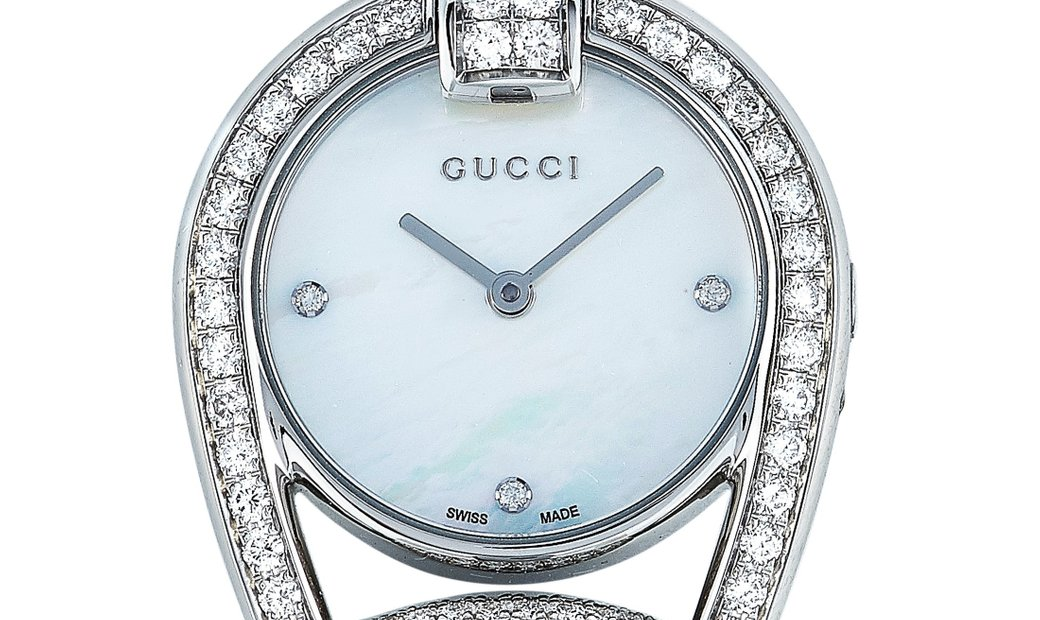 Gucci Gucci Horsebit Diamond Mother of Pearl Dial Watch YA139505