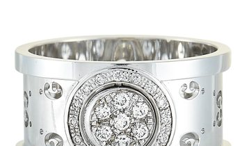 Gucci Gucci Icon Twirl 18K White Gold Diamond Band Ring