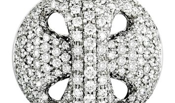 Damiani Damiani 18K White Gold Diamond Pave Ring