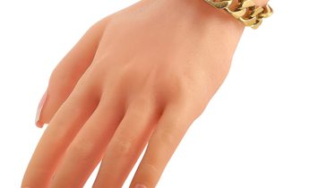 Asprey Asprey 18K Yellow Gold Diamond Link Bracelet