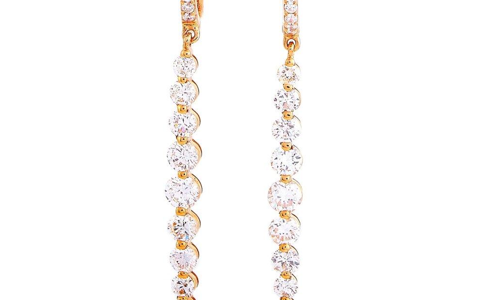 LB Exclusive LB Exclusive 18K Rose Gold 2.00 ct Diamond Drop Earrings