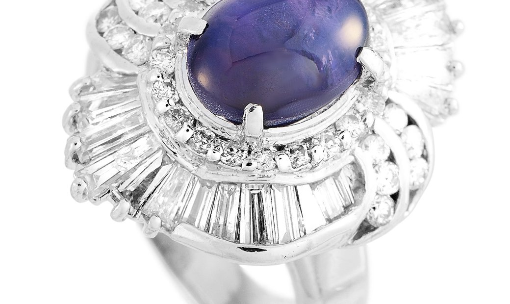 LB Exclusive LB Exclusive Platinum 1.69 ct Diamond and Sapphire Ring