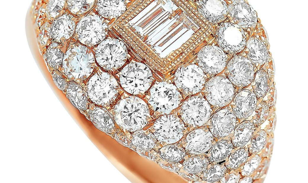 LB Exclusive LB Exclusive 18K Rose Gold 3.79 ct Diamond Ring