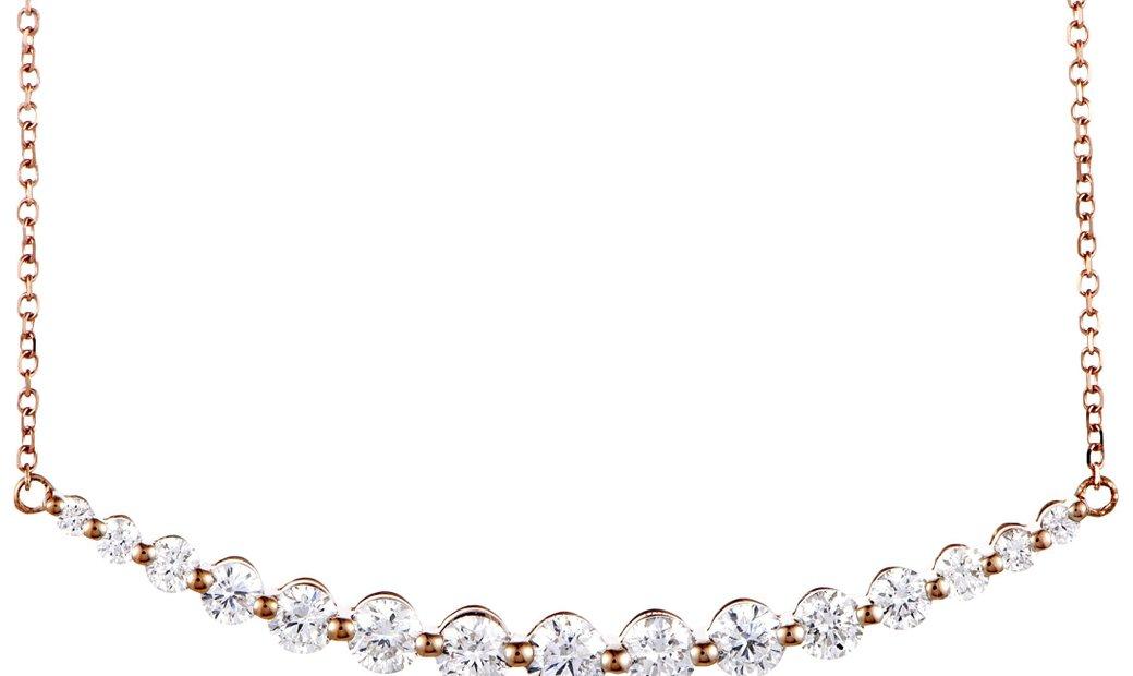 LB Exclusive LB Exclusive 18K Rose Gold 1.00 ct Diamond Pendant Necklace