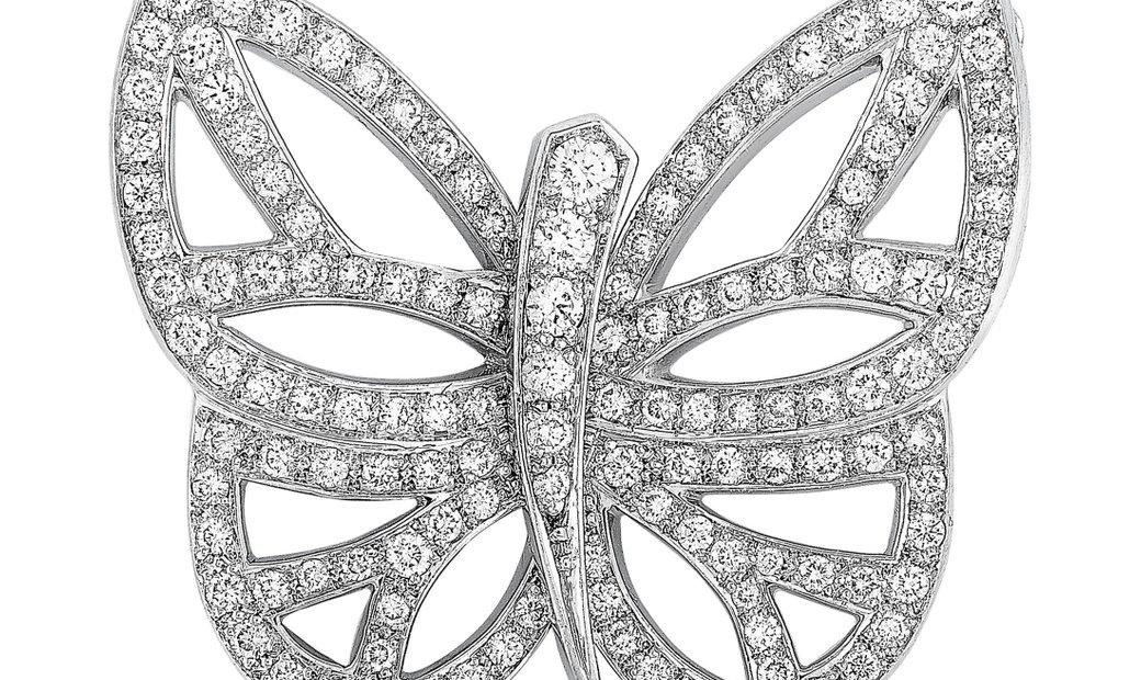 Van Cleef & Arpels Van Cleef & Arpels 18K White Gold Diamond Butterfly Pendant Necklace