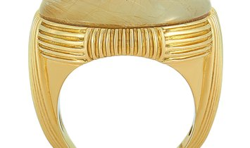 Roberto Coin Roberto Coin 18K Yellow Gold and Rutilated Mother of Pearl Ring