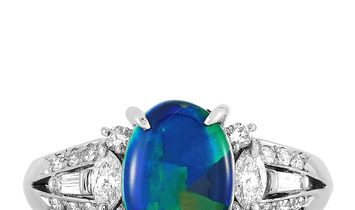 LB Exclusive LB Exclusive Platinum 0.53 ct Diamond and Opal Ring