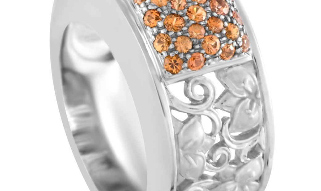 Carrera y Carrera Carrera y Carrera 18K White Gold Sapphire Band Ring