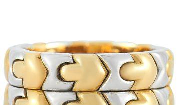 Bvlgari Bvlgari Parentesi 18K Yellow Gold and Stainless Steel Ring