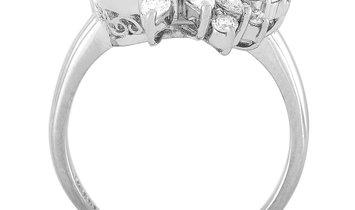 LB Exclusive LB Exclusive Platinum 0.53 ct Diamond and Aquamarine Ring