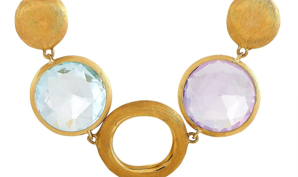 Marco Bicego Marco Bicego 18K Yellow Gold Multicolor Gemstones Necklace