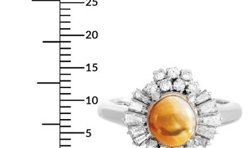 LB Exclusive LB Exclusive Platinum 0.87 ct Diamond and Opal Ring