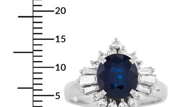 LB Exclusive LB Exclusive Platinum 0.50 ct Diamond and Sapphire Ring