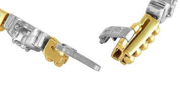 LB Exclusive LB Exclusive 18K Yellow and White Gold 1.00 Carat Diamond Tennis Bracelet