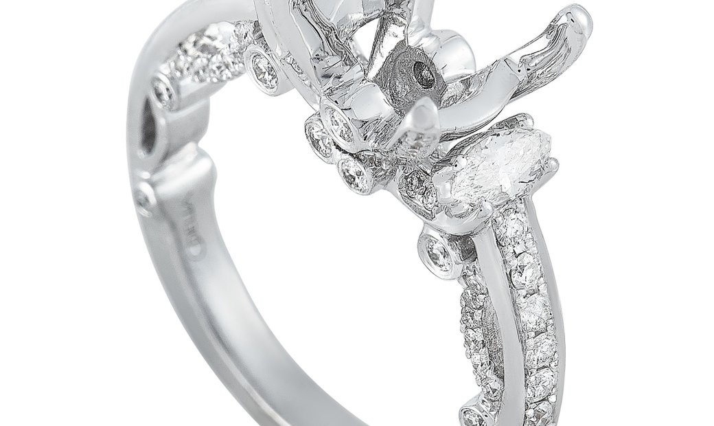 LB Exclusive LB Exclusive 18K White Gold 0.85 ct Diamond Mounting Ring