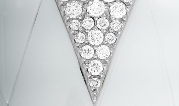 Roberto DeMeglio Roberto Demeglio 18K White Gold and White Ceramic 7.95 ct Diamond Bracelet