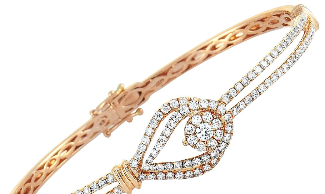 LB Exclusive LB Exclusive 18K Rose Gold ~1.6ct Diamond Bracelet