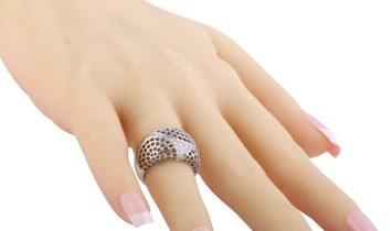 Cartier Cartier 18K White Gold Diamond Wide Mesh Band Ring