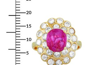 LB Exclusive LB Exclusive 18K Yellow Gold 1.56 ct Diamond and Ruby Ring