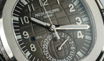 Patek Philippe Aquanaut 5164A-001 Travel Time Stainless Steel with Black Dial