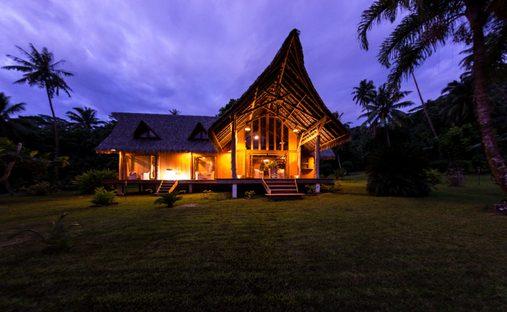 House in Ruutia, Leeward Islands, French Polynesia