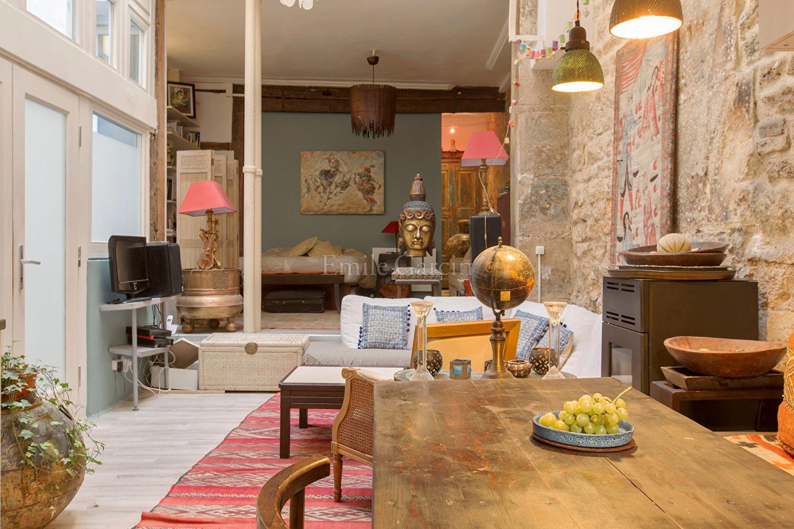 For sale loft-style apartment, in Paris 3rd - Marais in ...