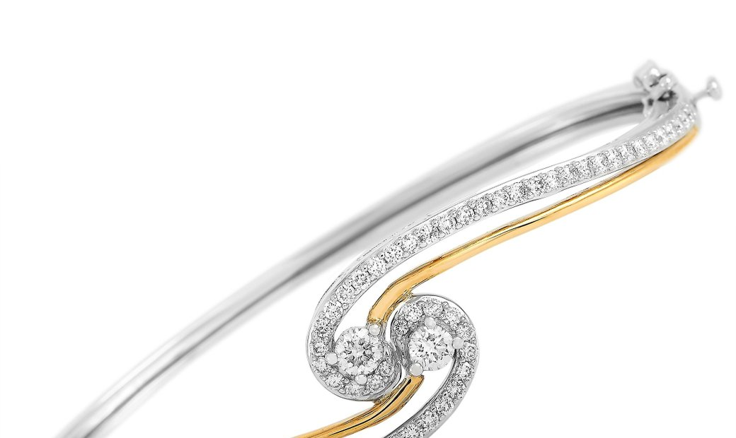 LB Exclusive LB Exclusive 14K White and Yellow Gold 1.50 ct Diamond Bracelet