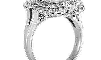 LB Exclusive LB Exclusive Platinum 1.01 ct Diamond and Tanzanite Ring