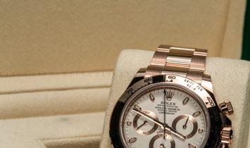Rolex Daytona Cosmograph 116505-0010 18 Ct Everose Gold Ivory Coloured Dial