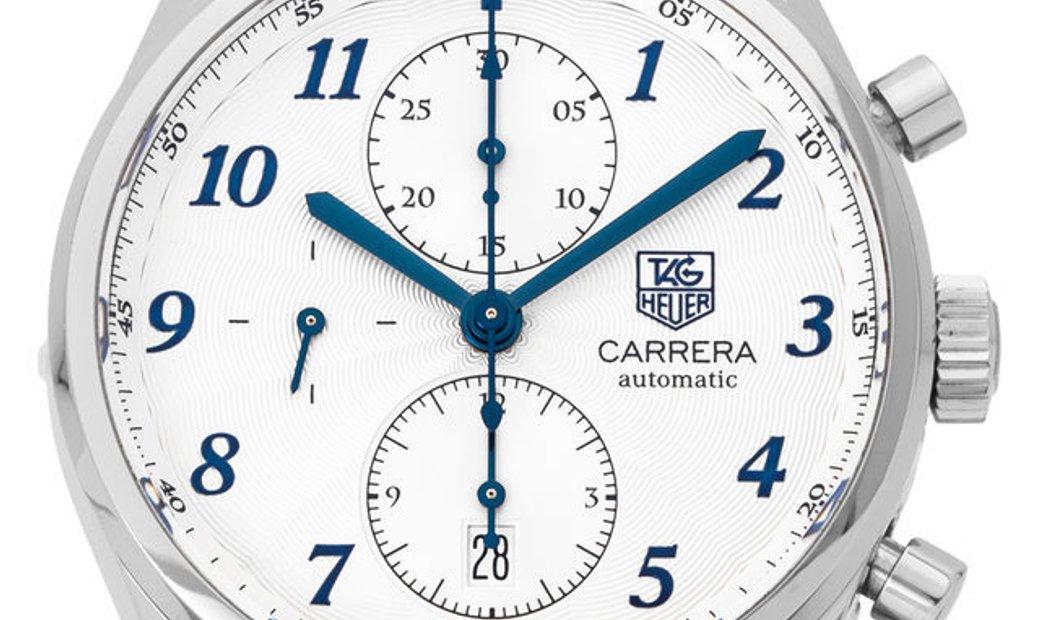 TAG Heuer Carrera CAS2111.BA0730, Arabic Numerals, 2018, Very Good, Case material Steel