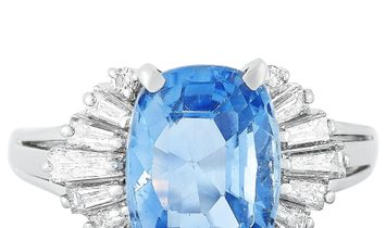 Tasaki Tasaki Platinum 0.45 ct Diamond and Sapphire Ring
